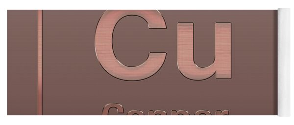 Periodic Table Of Elements - Copper - Cu - Copper On Copper Yoga Mat