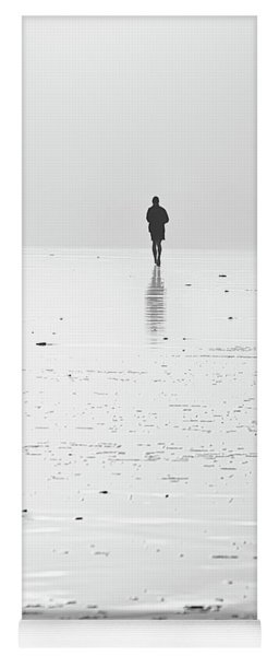 Person Running On Beach Yoga Mat