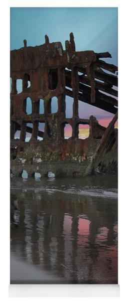 Peter Iredale Shipwreck At Sunrise Yoga Mat