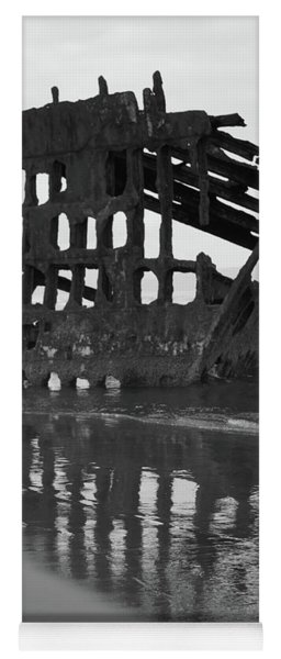 Peter Iredale Shipwreck In Black And White Yoga Mat