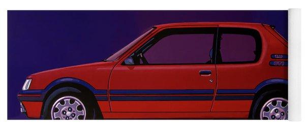 Peugeot 205 Gti 1984 Painting Yoga Mat