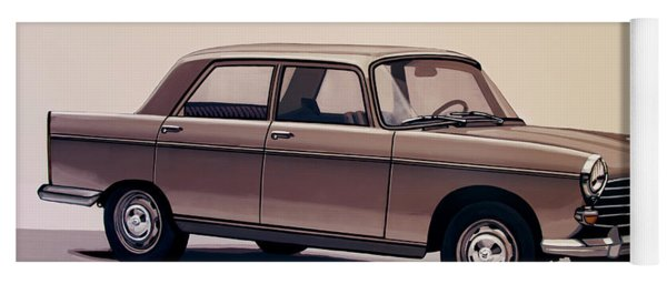 Peugeot 404 1960 Painting Yoga Mat
