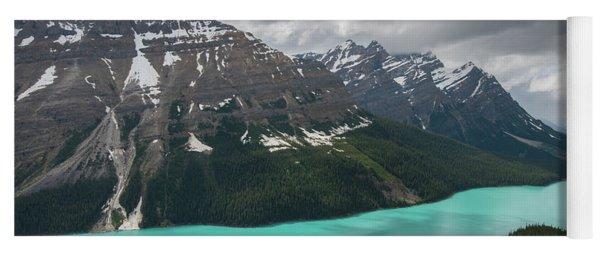 Peyto Lake Cloudscape Yoga Mat