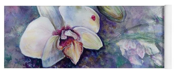Phalaenopsis Orchid With Hyacinth Background Yoga Mat