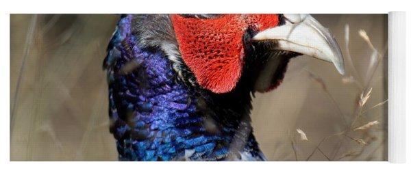 Pheasant Portrait Yoga Mat