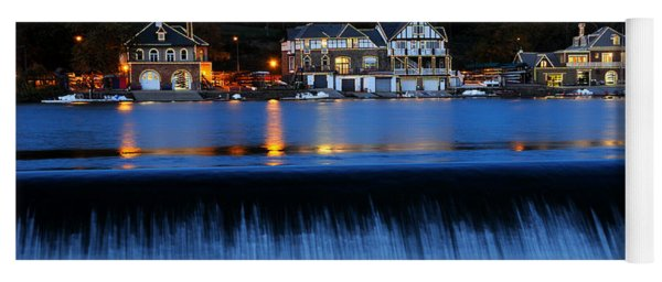 Philadelphia Boathouse Row At Twilight Yoga Mat