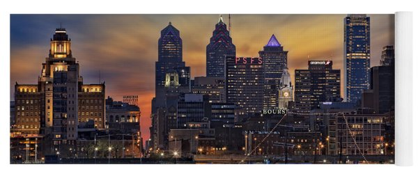 Philadelphia Skyline Yoga Mat
