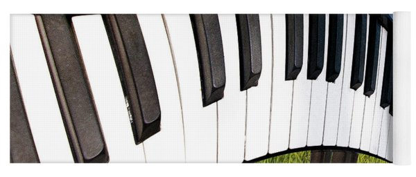Yoga Mat featuring the photograph Piano Land by Paul Wear