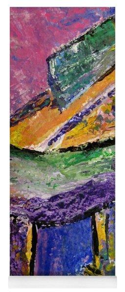Piano Purple - Cropped Yoga Mat