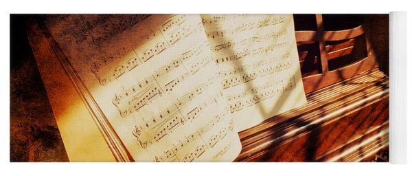 Piano Sheet Music Yoga Mat
