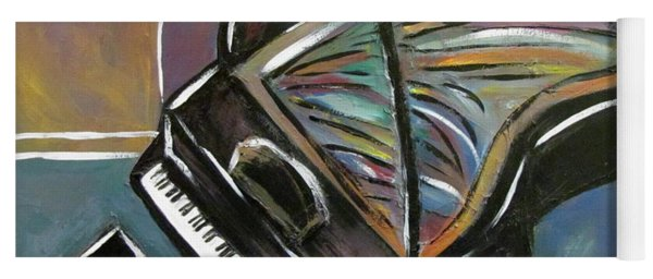 Piano With High Heel Yoga Mat