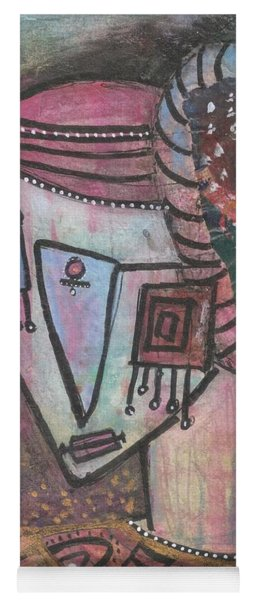 Yoga Mat featuring the mixed media Picasso Inspired by Prerna Poojara