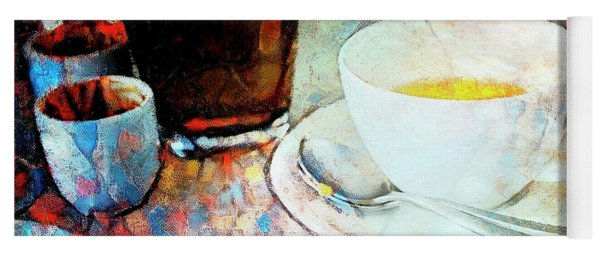 Yoga Mat featuring the photograph Picasso's Coffee by Craig J Satterlee