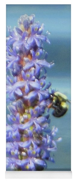 Yoga Mat featuring the photograph Pickerelweed Bumble Bee by Rockin Docks Deluxephotos