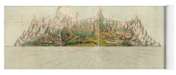 Picture Of Organized Nature As Extending Over The Earth - Geological Illustration - Old Atlas Yoga Mat