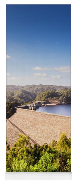 Picturesque Hydroelectric Dam Yoga Mat