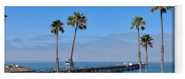 Pier And Palms Yoga Mat