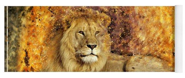 Pieces Of A Lion Yoga Mat