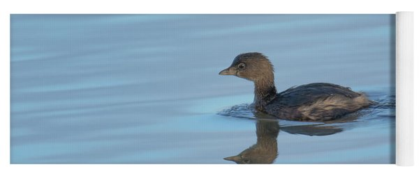 Yoga Mat featuring the photograph Pied Grebe by Craig Leaper
