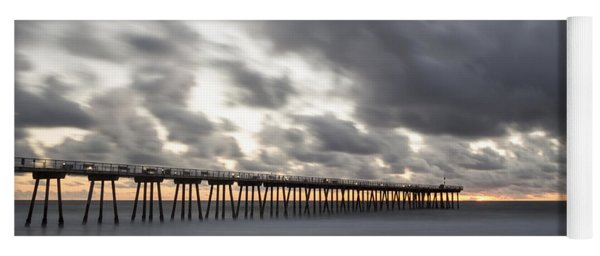Pier In Misty Waters Yoga Mat