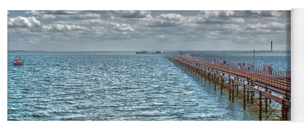 Pier Into The English Channel Yoga Mat