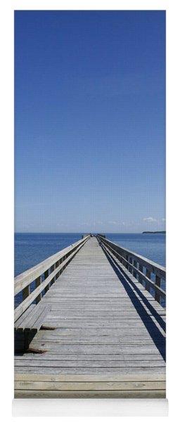 Pier On Fort Pond Bay Montauk Yoga Mat
