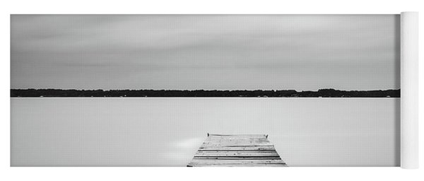 Yoga Mat featuring the photograph Pier Sinking Into The Water by Todd Aaron