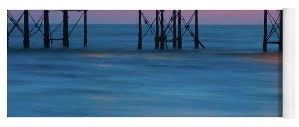 Pier Supports At Sunset I Yoga Mat