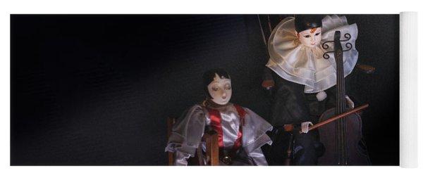 Pierrot And Columbine Yoga Mat