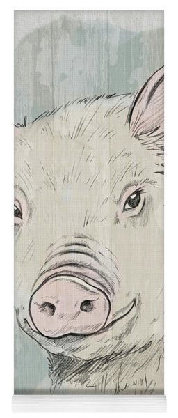 Pig Portrait-farm Animals Yoga Mat