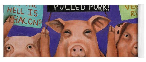 Pigs On Strike Yoga Mat