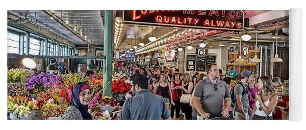 Pike Place Market - Seattle Yoga Mat