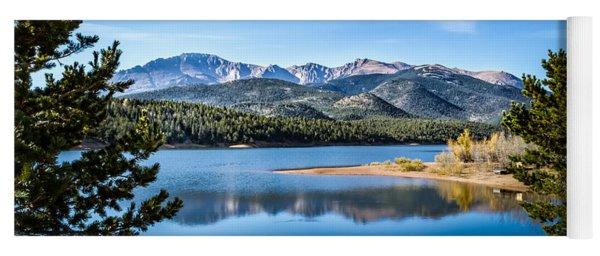 Pikes Peak Over Crystal Lake Yoga Mat
