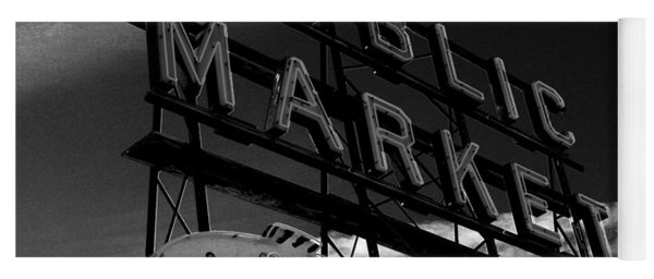 Pikes Place Market Sign Yoga Mat