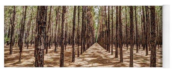 Pine Plantation Wide Color Yoga Mat