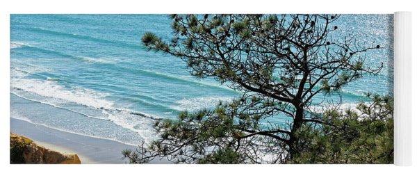 Pine Tree On Coast Yoga Mat