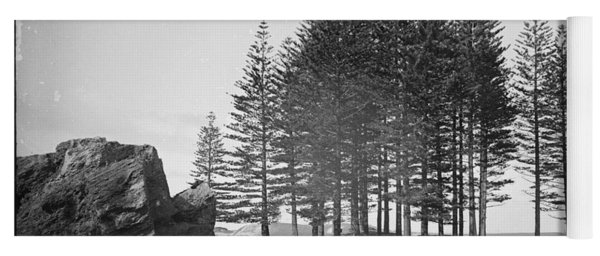 Yoga Mat featuring the painting Pine Trees, Norfolk Island, Kerry And Co, Sydney, Australia, C. 1884-1917 by Artistic Panda