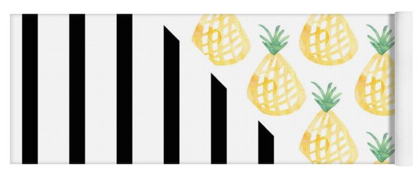 Pineapples And Stripes Yoga Mat