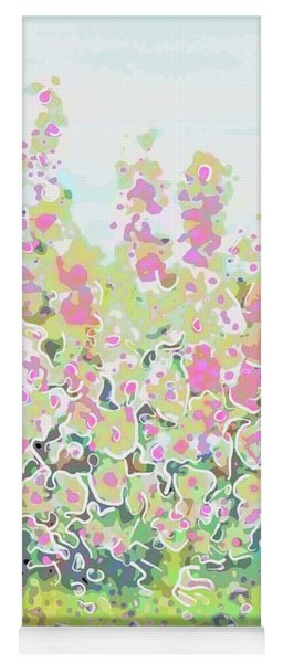 Pink Abstract  Yoga Mat
