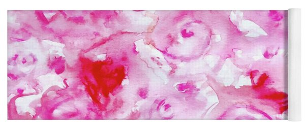 Pink Abstract Floral Yoga Mat