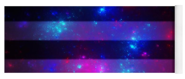 Pink And Blue Striped Galaxy Yoga Mat