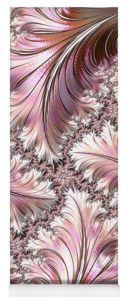 Pink And Brown Fractal Landscape Yoga Mat