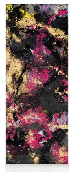 Pink And Gold Merge Yoga Mat