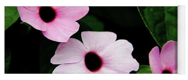 Pink And White Mandevilla Yoga Mat