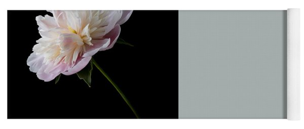 Pink And White Peony Yoga Mat