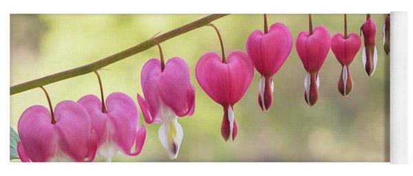 Pink Bleeding Hearts Vine Yoga Mat