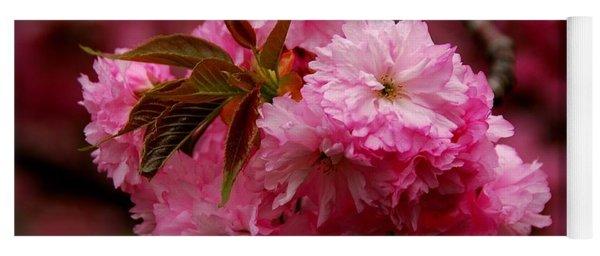 Pink Blooms Yoga Mat