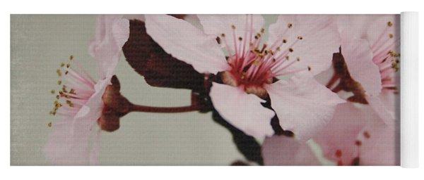 Pink Blossoms 1- Art By Linda Woods Yoga Mat