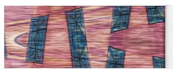 Pink By Blue Yoga Mat