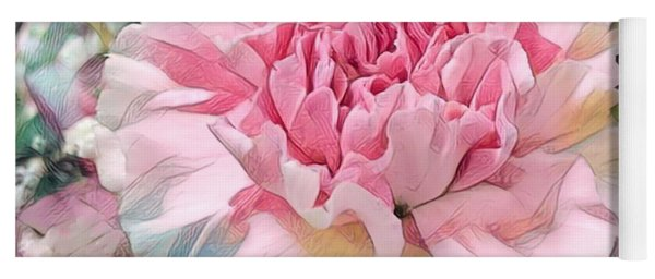 Pink Carnation Yoga Mat